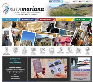 Antigua web de la Ruta Mariana